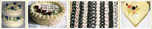 svatební dorty, čerstvé výrobky